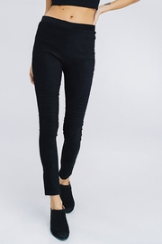 Cezanne Suede Moto Leggings - Back cropped