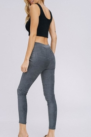 Cezanne Suede Moto Leggings - Side cropped
