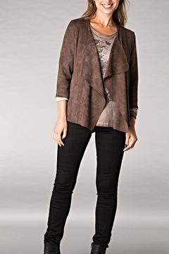 Shoptiques Product: Suede Open Jacket