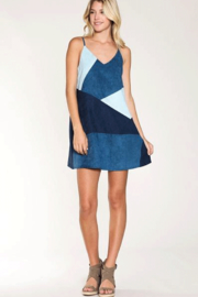 Listicle Suede Patch Dress - Product Mini Image