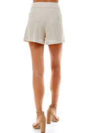 TCEC Suede Pleated Short - Side cropped