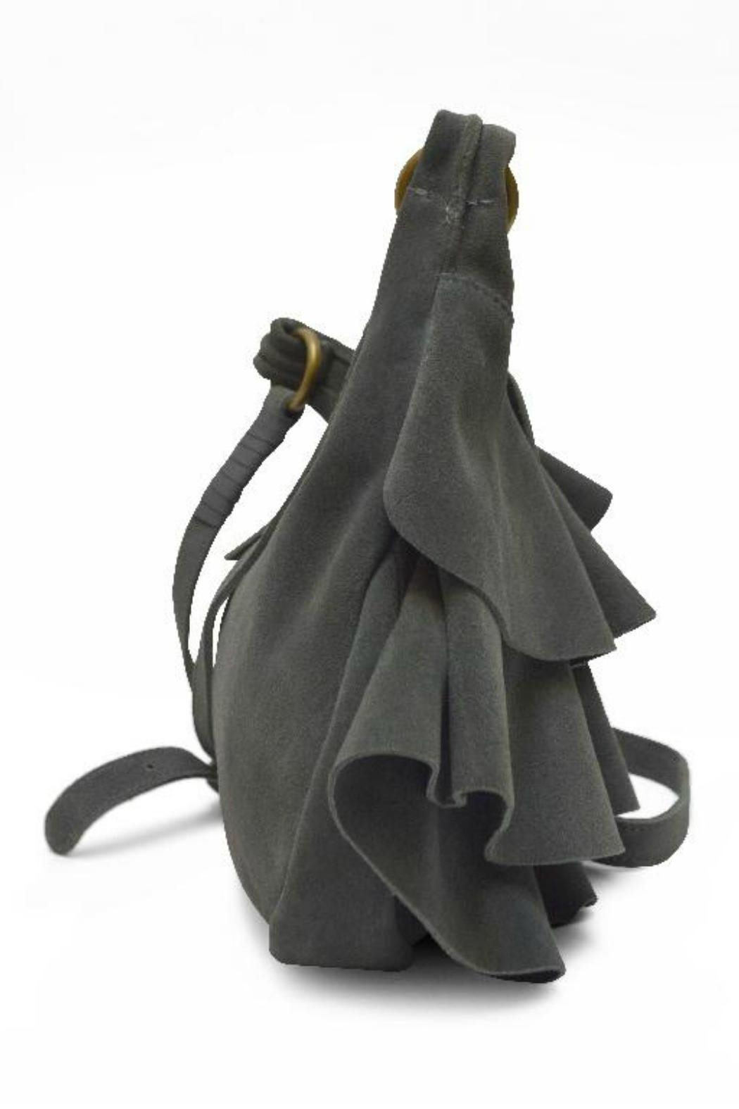 MHGS Suede Ruffle Bag - Front Full Image