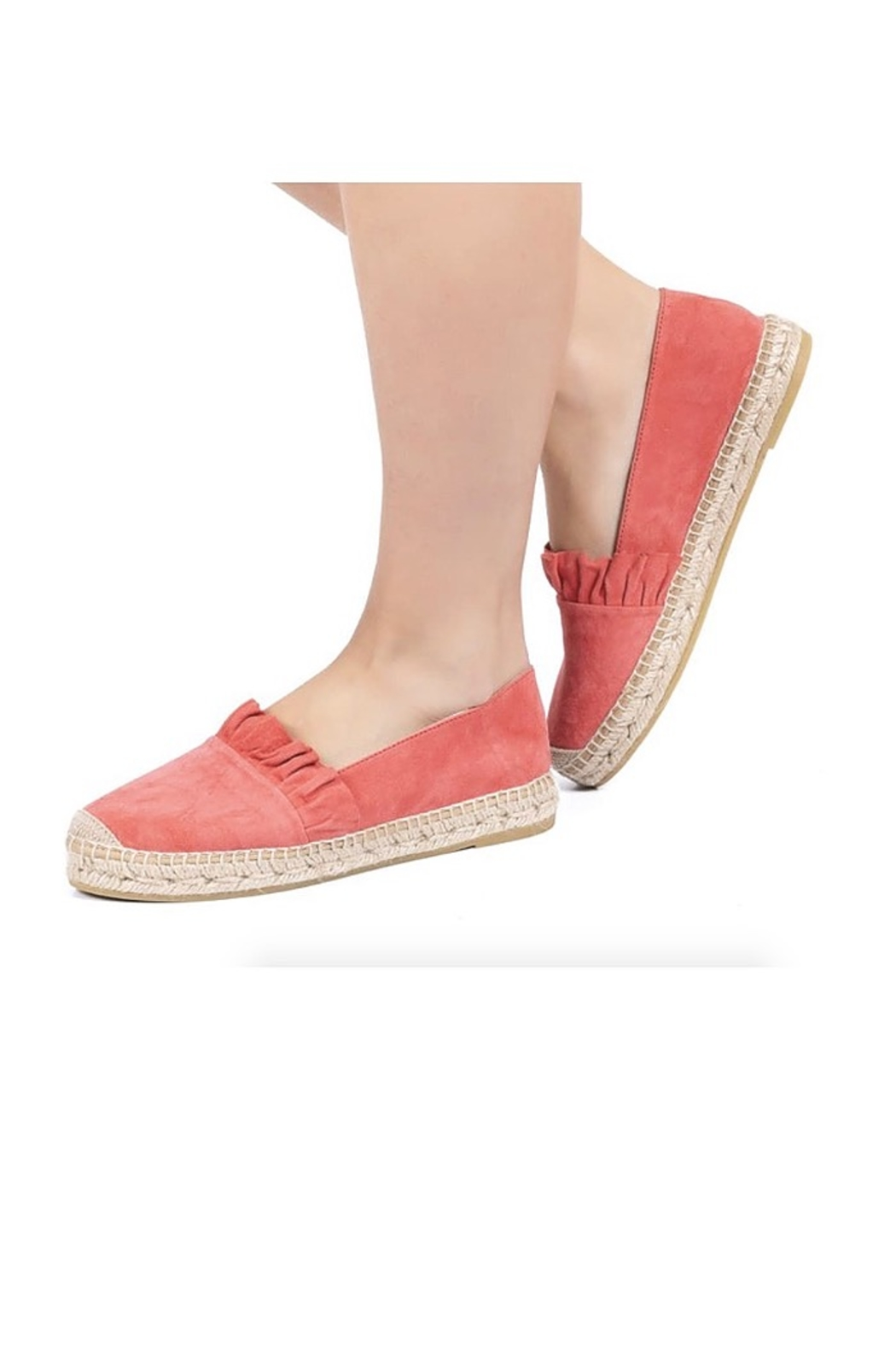 Kanna Suede Ruffle Espadrille - Side Cropped Image