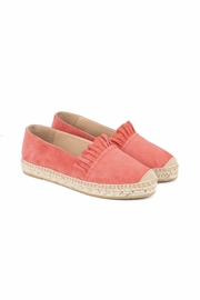 Kanna Suede Ruffle Espadrille - Front cropped