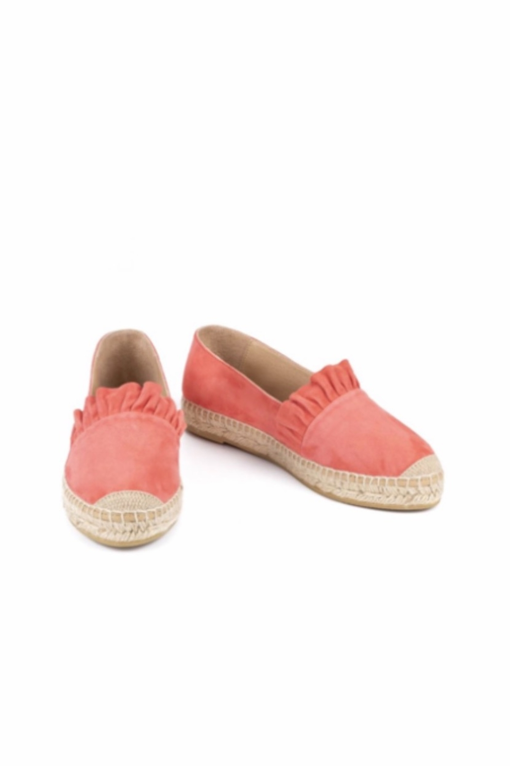 Kanna Suede Ruffle Espadrille - Front Full Image