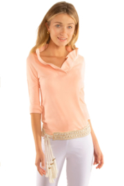 Gretchen Scott Suede Ruffneck Top - Product Mini Image