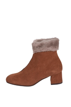 Shoptiques Product: Suede-Rust Cuff Ankle-Boots
