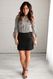 crescent Suede Skirt - Front cropped