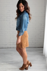 crescent Suede Skirt - Front full body