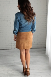 crescent Suede Skirt - Side cropped
