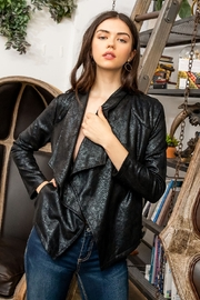 Thml Suede Snake Print Cardigan - Product Mini Image