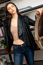 Thml Suede Snake Print Cardigan - Side cropped