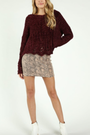Honey Punch Suede Snake Print Skirt - Product Mini Image