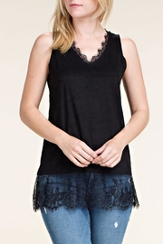 Vocal Apparel Suede Tank Lace-Trim - Product Mini Image