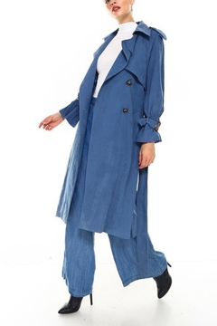 TCEC Suede Trench Coat - Alternate List Image