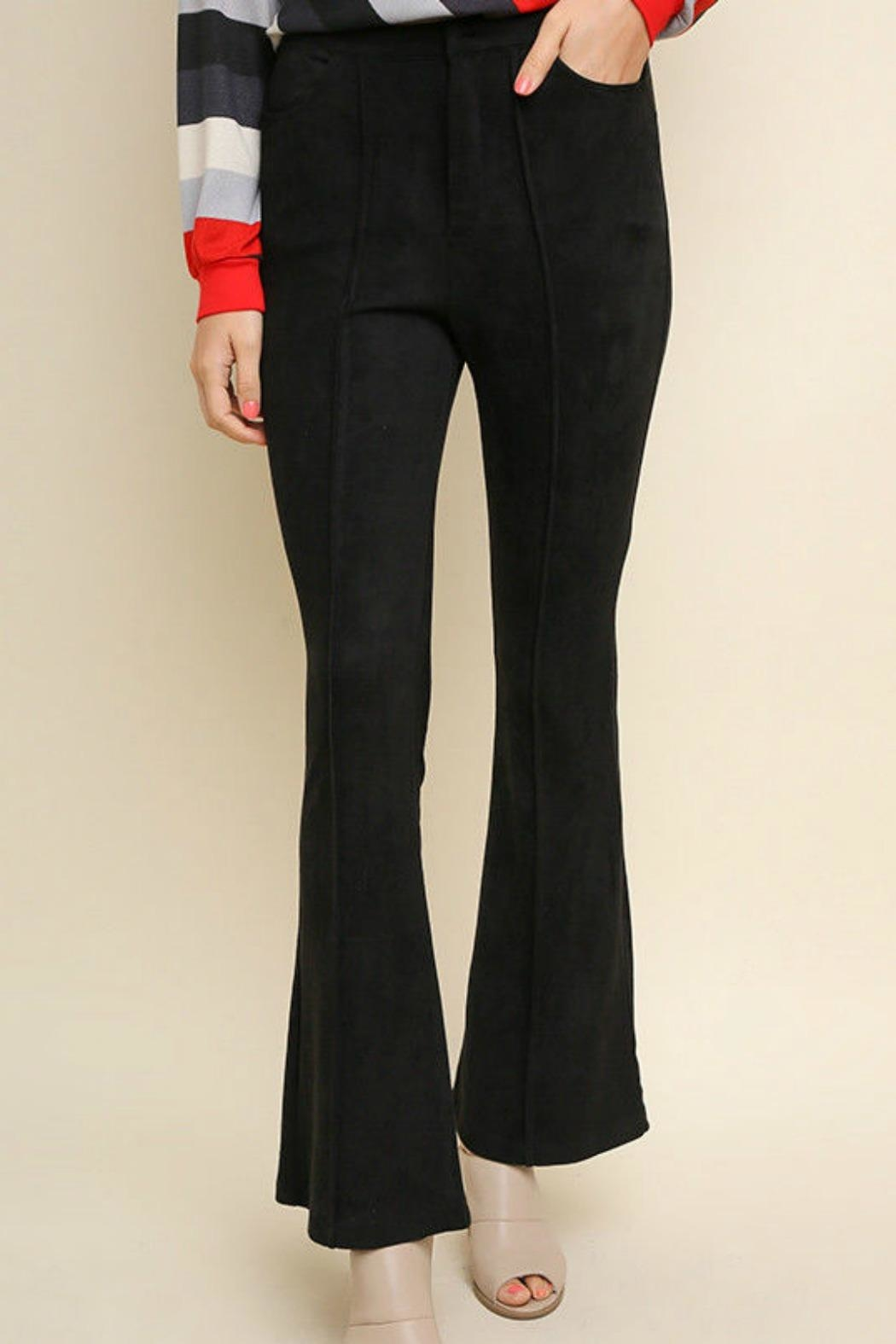 Umgee USA Suede Wide Legs - Front Cropped Image