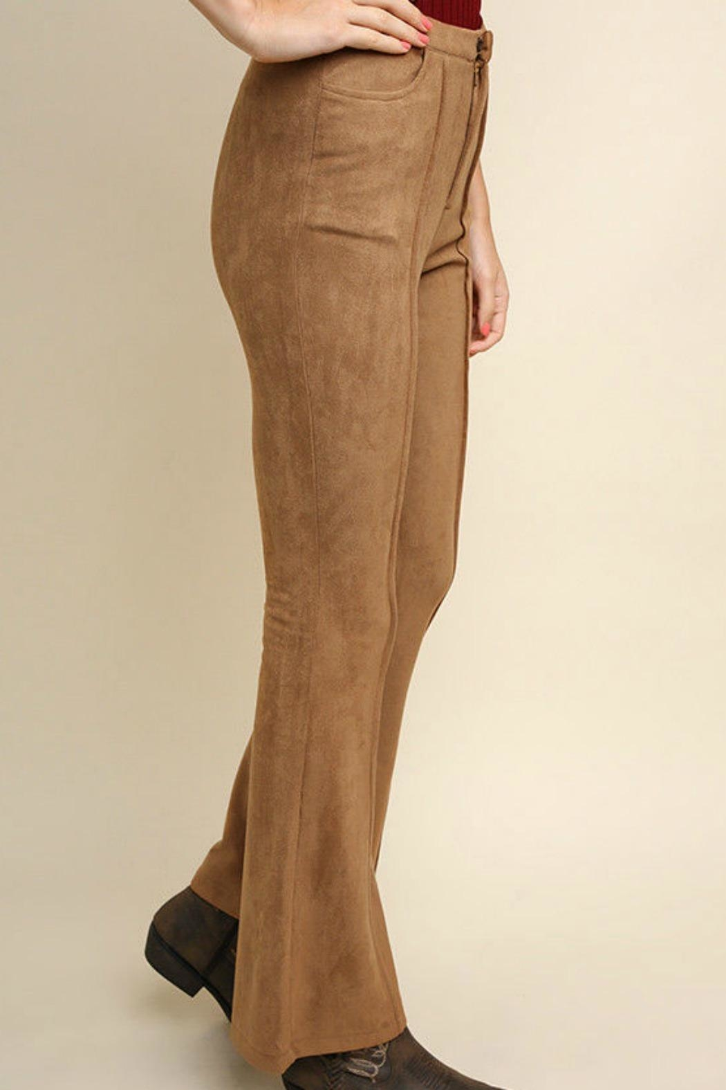 Umgee USA Suede Wide Legs - Front Full Image
