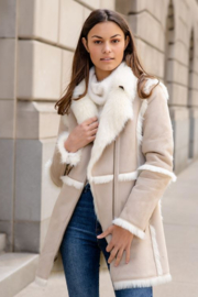 Fabulous Furs Suede Zip Coat - Product Mini Image
