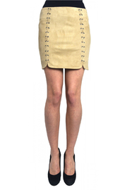 Tractr (New York Poplin) Sueded Lace Detail Mini Skirt - Product Mini Image