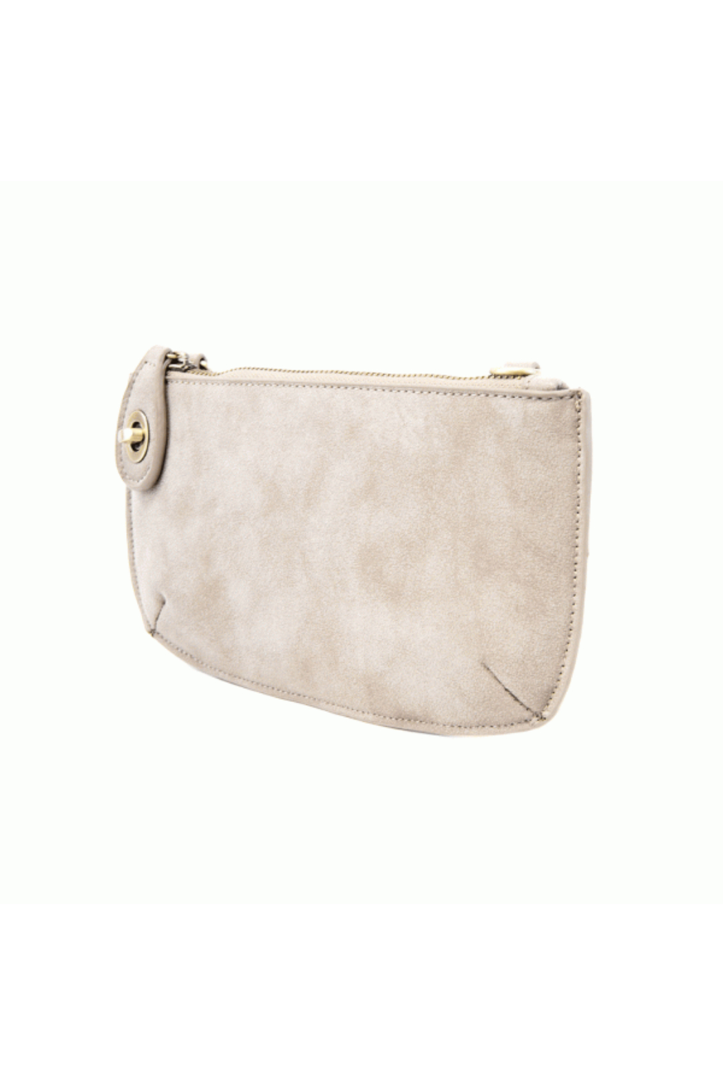 Joy Accessories Sueded Lux Crossbody Wristlet Clutch - Front Full Image