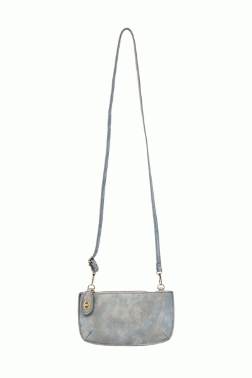 Joy Accessories Sueded Lux Crossbody Wristlet Clutch - Back Cropped Image