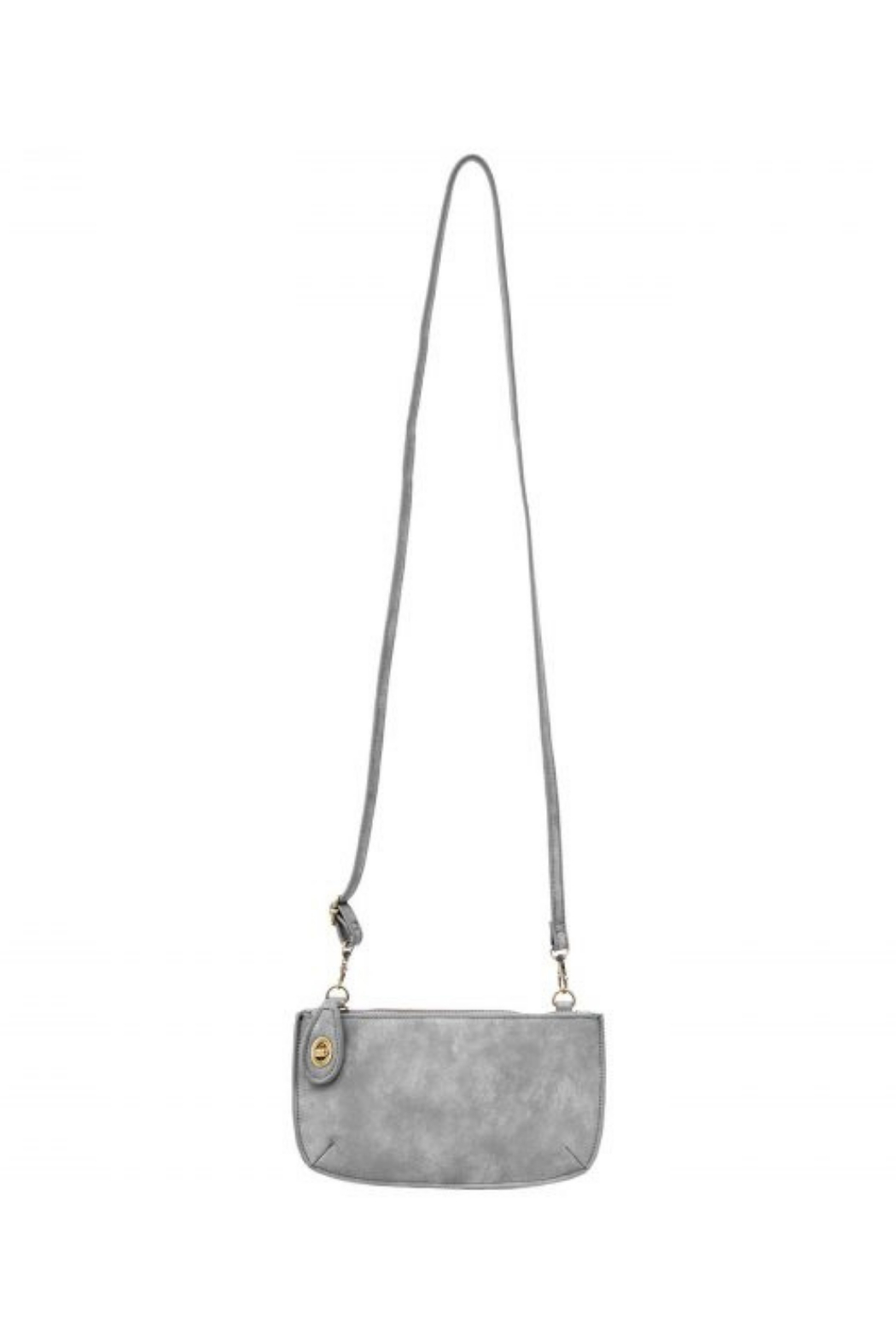 Joy Accessories Sueded Lux Crossbody Wristlet Clutch - Side Cropped Image