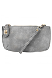 Joy Accessories Sueded Lux Crossbody Wristlet Clutch - Front cropped