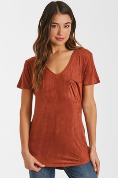 Another Love Sueded Vneck Tee - Alternate List Image