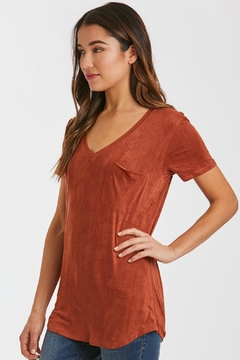 Another Love Sueded Vneck Tee - Product List Image