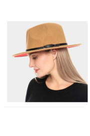 Wona Trading Suedette Belted Hat - Front full body