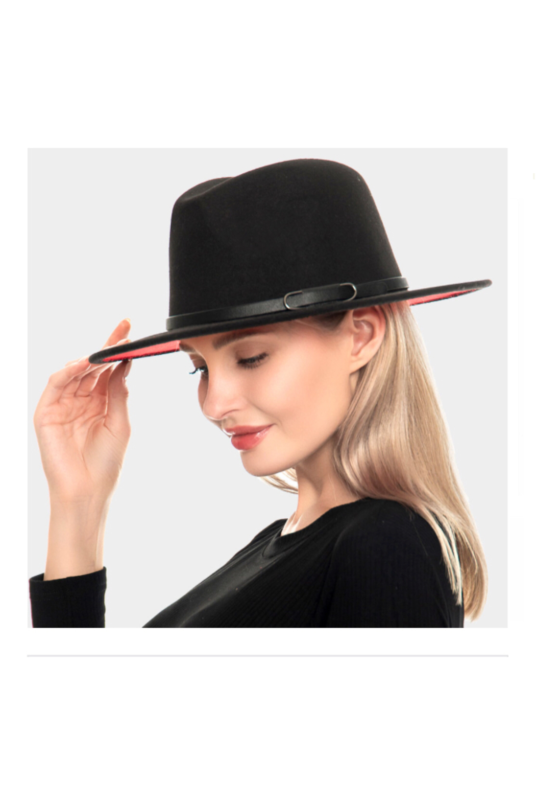 Wona Trading Suedette Belted Hat - Front Full Image