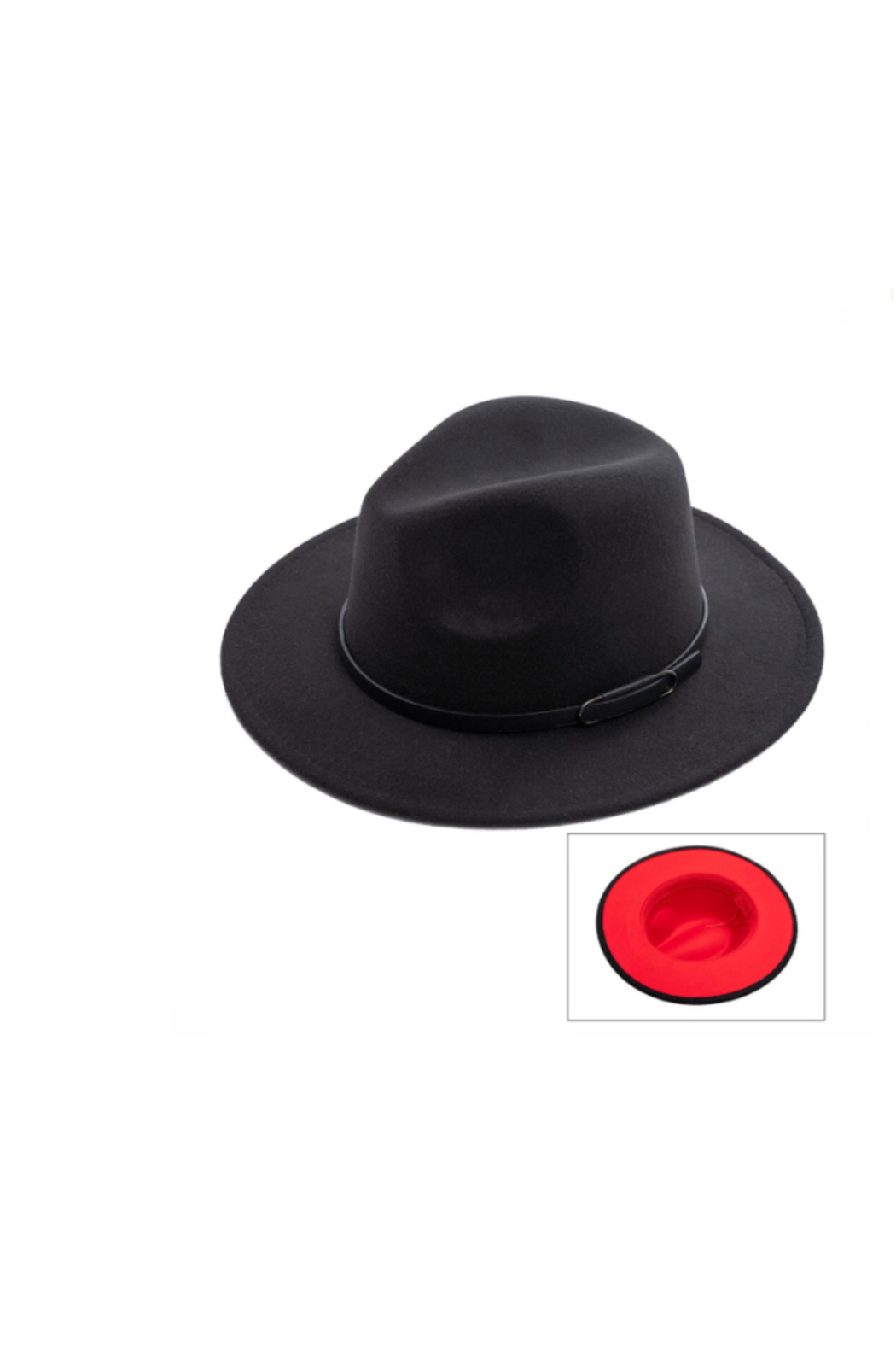 Wona Trading Suedette Belted Hat - Main Image