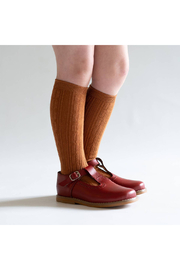 Little Stocking Co Sugar Almond Knee High Socks - Front cropped