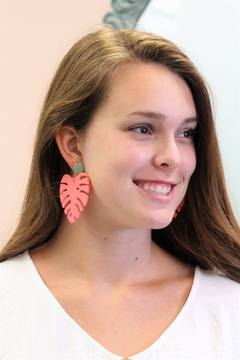 SUGAR Sugar Gemstone Leaf Earrings - Alternate List Image