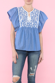 Sugar Lips Blue Loose Top - Product Mini Image