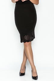 Sugar Lips Black Flounce Skirt - Front cropped