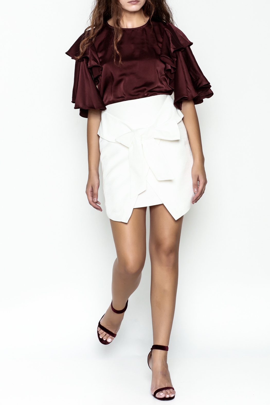 Sugar Lips Bow Tie Skirt - Side Cropped Image