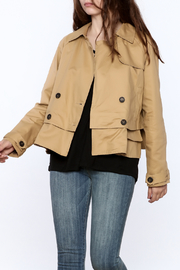 Sugar Lips Modern Camel Trench Jacket - Product Mini Image
