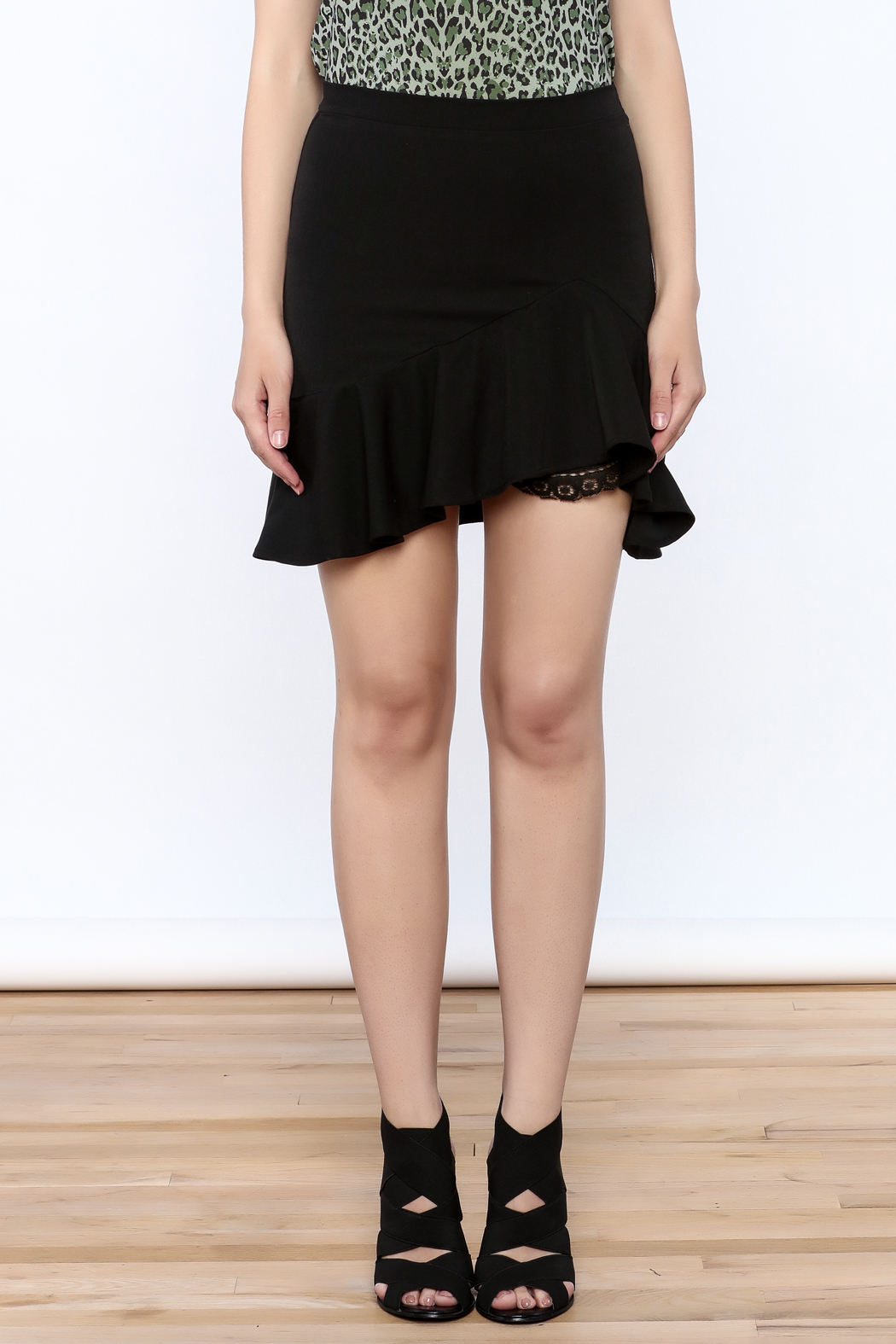 Sugar Lips Flare Mini Skirt - Side Cropped Image