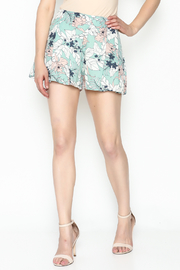 Sugar Lips Mint Floral Shorts - Product Mini Image