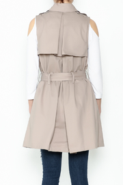 Sugar Lips Khaki Vest - Back cropped
