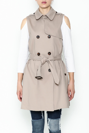 Sugar Lips Khaki Vest - Front full body