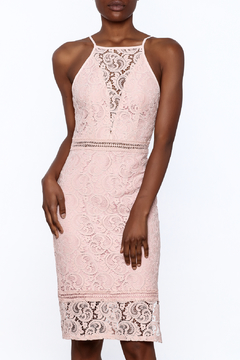 Shoptiques Product: Pink Lace Bodycon Dress