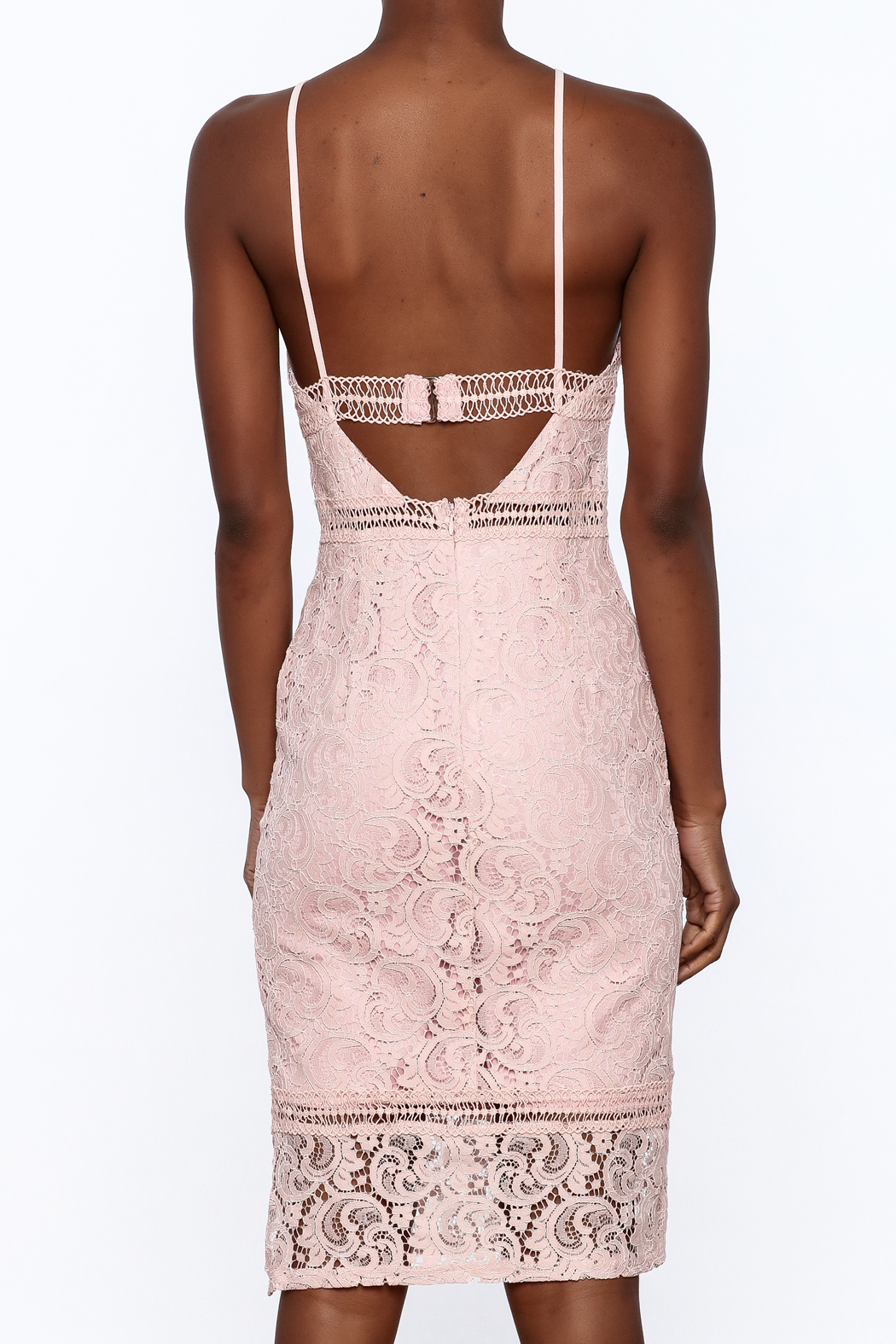 Sugar Lips Pink Lace Bodycon Dress from Manhattan by Dor L'Dor ...