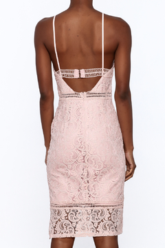 Sugar Lips Pink Lace Bodycon Dress - Alternate List Image