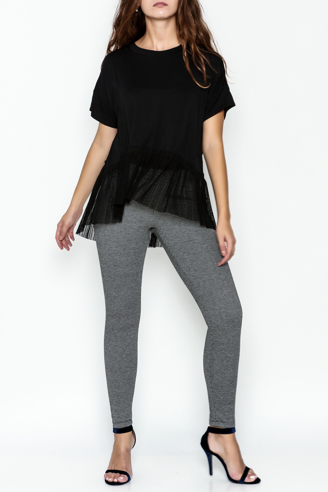 Sugar Lips Short Sleeve Knit Top - Side Cropped Image