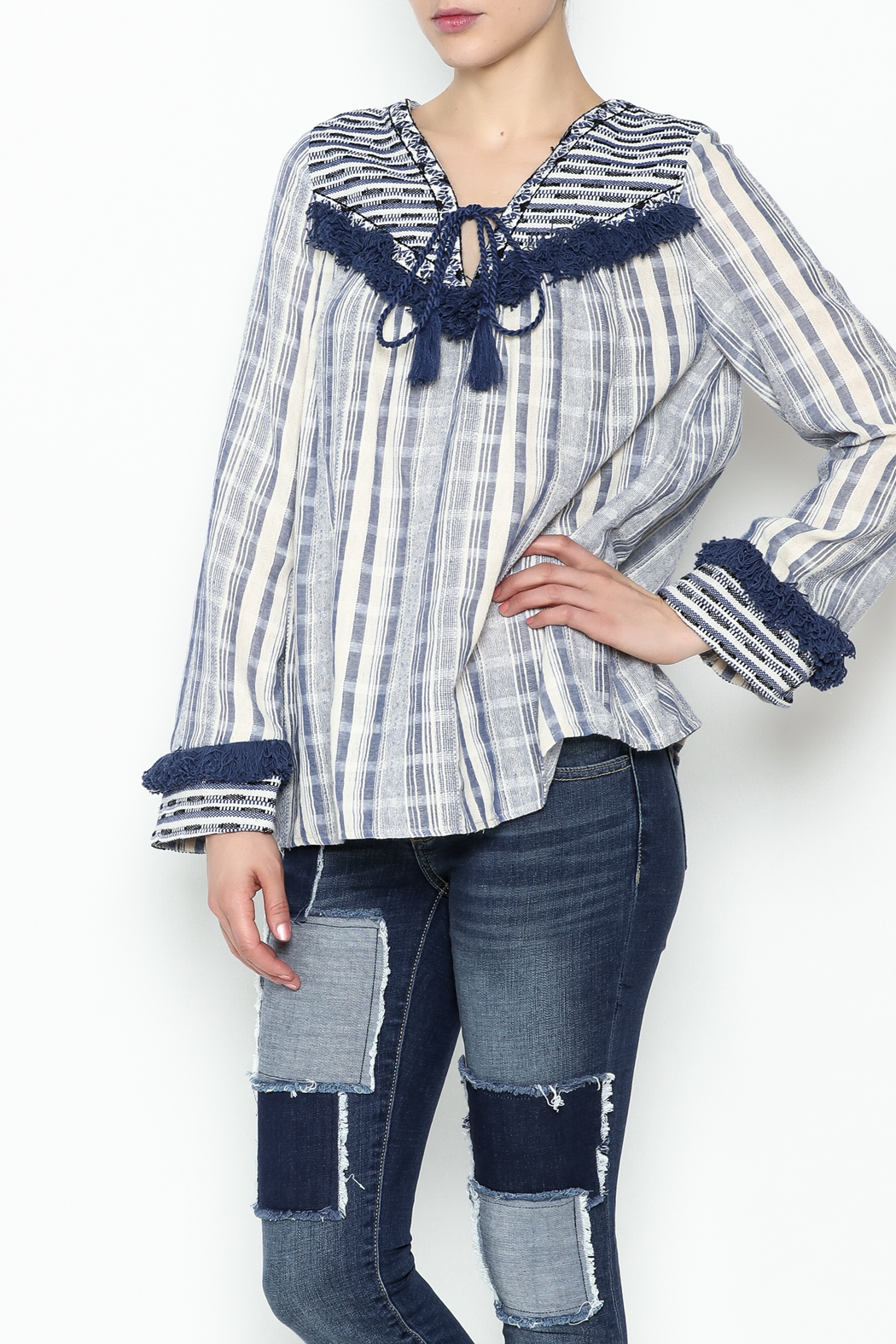 Sugar Lips Margot Stripe Knit Top - Main Image