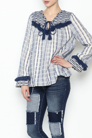 Sugar Lips Margot Stripe Knit Top - Product Mini Image