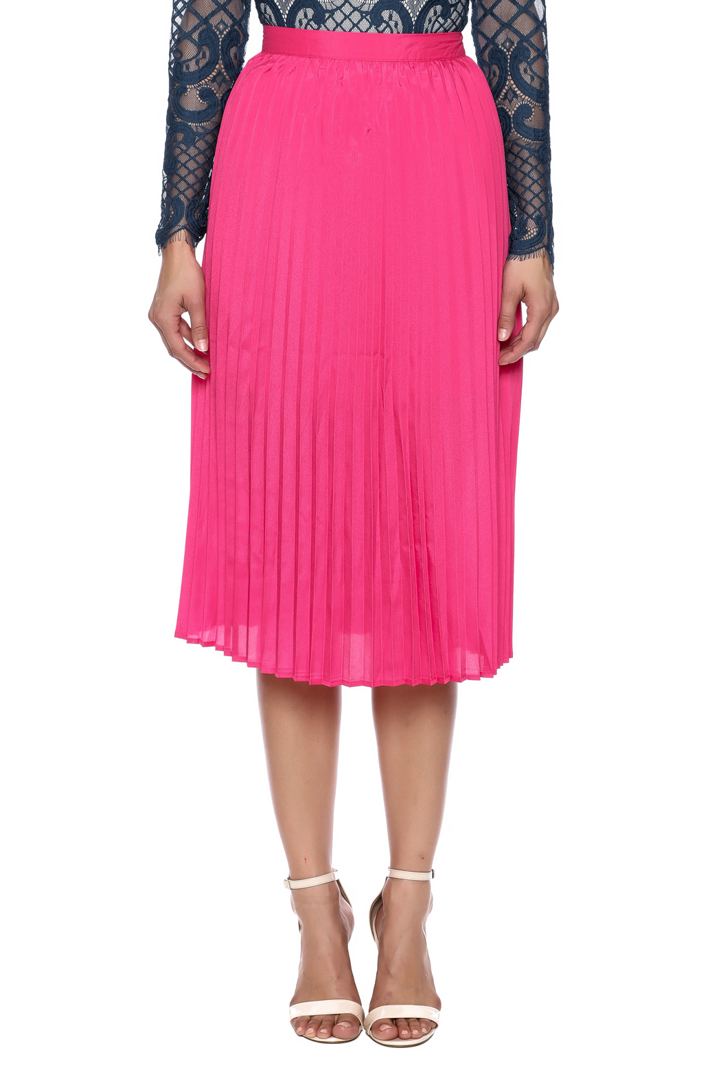 Pink Pleated Skirt — Shoptiques