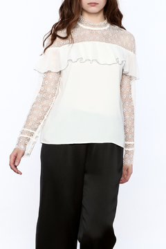 Shoptiques Product: Ruffle Lace Top